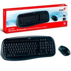 Combo Teclado Genius + Mouse Inalambrico  KB-8000X