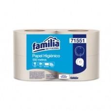 Papel Higiénico Jumbo Nat 550 mt Familia ( Paca x 4 ) Disp 83410