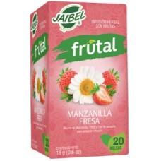 Aromática Jaibel frutal Manzanilla Fresa x 20 unidades