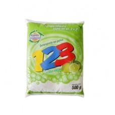 Detergente en polvo 123 Limón 500gr