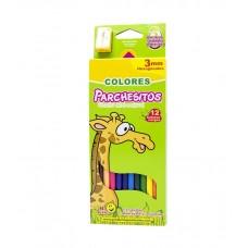 Colores Parchesitos 3mm X12 largos hexagonales
