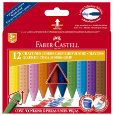 Crayones Jumbo grip triangular X12 Faber Castell
