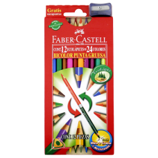 Colores doble punta 4 mm 12/24 Faber Castell