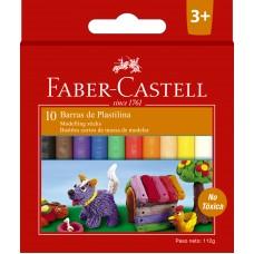 Plastilina corta X10 colores Faber Castell