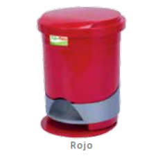 Papelera de pedal redonda roja de 12 litros Fuller