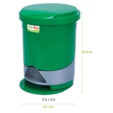 Papelera de pedal redonda verde de 12 litros Fuller