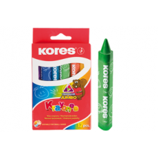 Crayones Kores X12 jumbo triangular