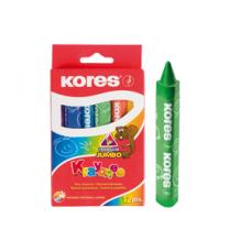 Crayones Kores X12 jumbo triangular