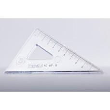 Escuadra 60°-32 cm con 60°-11 cm Linea Azul