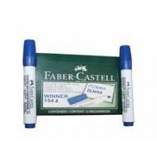 Marcador borrable azul Faber Castell 154