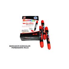 Marcador Doricolor permanente rojo