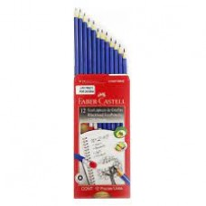lápiz FABER CASTELL HB #2 presto triangular azul