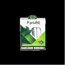 Marcador borrable verde Printell (x12)