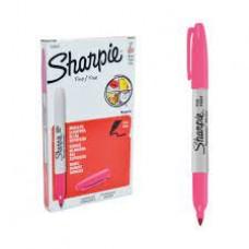 Marcador permanente fucsia delgado Sharpie (x12)