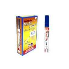 Marcador borrable azul recargable trazo 150 (x10)