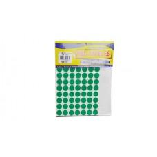 Rotulo Círculos Adhesivos Color Verde  x 420 Unidades