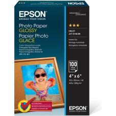 Papel fotográfico brillante sin borde (100 hojas, 4 x 6 pulgadas) Epson S042038