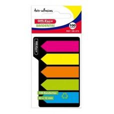 Banderitas Adhesivas Colores Neon X 5 Paquetes Offi Esco