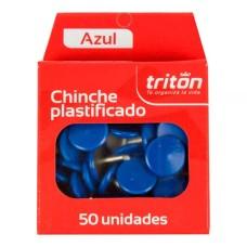 Chinche Triton x50 azul plásticos