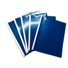 Carpeta Carta Bisel Azul X 5 Policover Fabrifolder