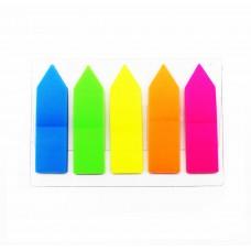 Banderitas  adhesivas  plásticas x 5 colores Gipao x125 hojas.