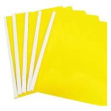 Carpeta Carta Bisel Amarillo X 5  Policover Fabrifolder