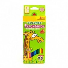 Color Parchesitos x 12 largo 3 mm