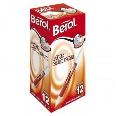 Corrector lápiz 10 ml Berol punta metálica (x12)