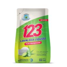 Jabón Lava Loza 123 Limón DoyPack 500 ML