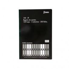 Libro Contabilidad  3 Columnas 100 Hojas 200 folios Oficio NORMA (9)