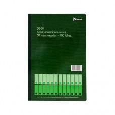 Libro Contabilidad Anotaciones 50 - OF 50 Hojas NORMA