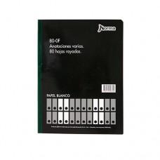 Libro Contabilidad Anotaciones  80 OF 80Hojas  16.5X21.5 NORMA