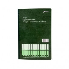 Libro Contabilidad 3 Columnas 50 Hojas 100 Folios Norma