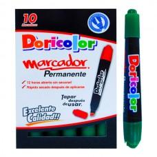 Marcador Permanente DORICOLOR Verde  (X10)