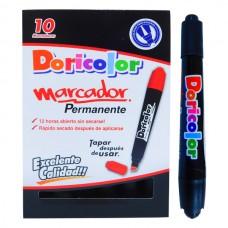 Marcador Permanente DORICOLOR Negro (X10)
