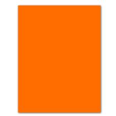 Cartulina Neón Naranja Primavera (X50)