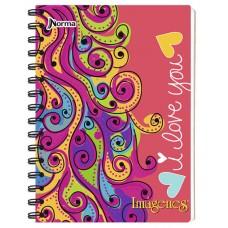 Cuaderno Argollado  105 Con Rayas 80 Hojas IMAGENES UND (X50)