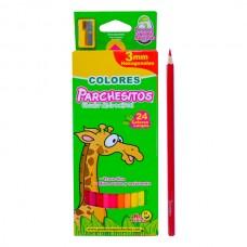 Colores  PARCHESITOAS X24 3MM HEXAGONAL