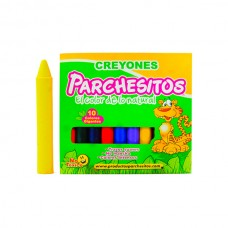 Crayones  PARCHESITOS  X10 JUMBO