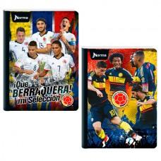Cuaderno Cosido 95 Con Cuadros 100 Hojas  SELECCION COLOMBIA  (X30)