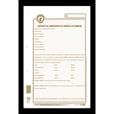 Contrato Compraventa Vehículo  PAQUETE x12 MINERVA