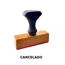 Sello cancelado madera