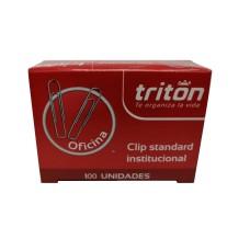 Clip metálico institucional Tritón