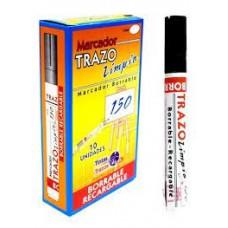 Marcador borrable recargable Trazo Ref 150 Negro