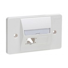 Face Plate 2P 503 outlet 117.5x72.2x1 Blanco R&M