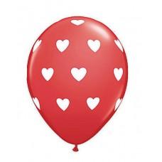 Bombas R12 X 12 rojas estampado corazón