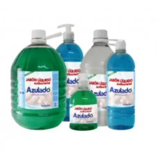 Jabon liq manos 1000ml antibacterial manzana push pull Azulado.