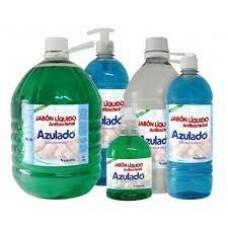 Jabón liquido antibacterial 1.000 ml neutro cremera Azulado.